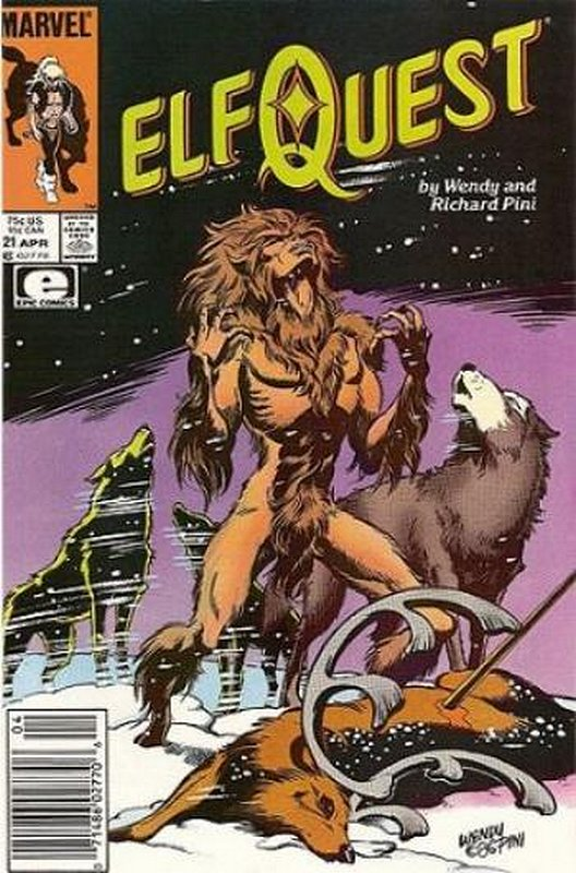 Cover of Elfquest (Epic) #21. One of 250,000 Vintage American Comics on sale from Krypton!