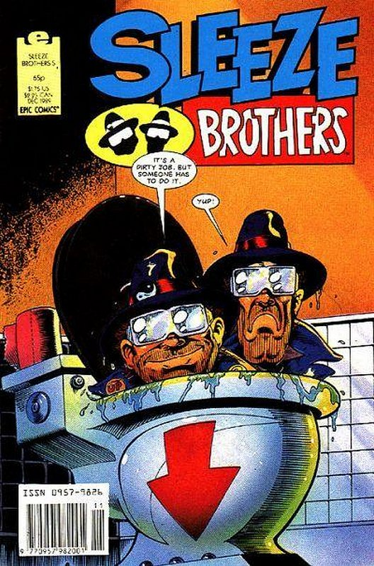 Cover of Sleeze Brothers #5. One of 250,000 Vintage American Comics on sale from Krypton!