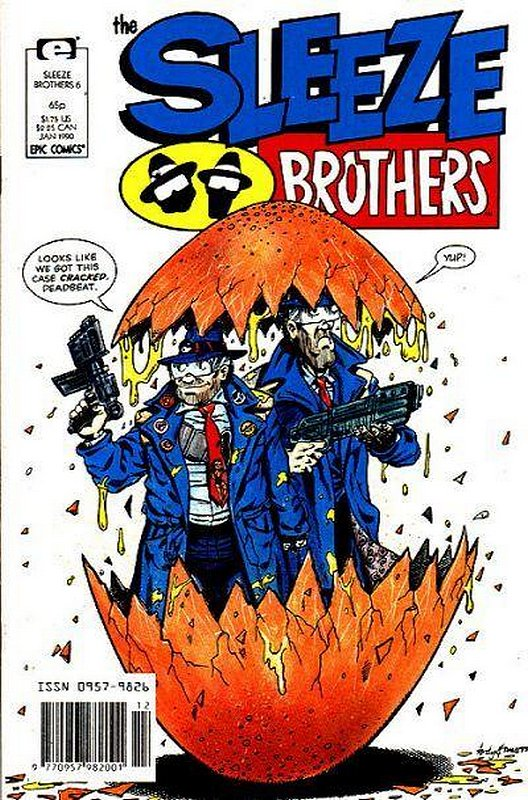 Cover of Sleeze Brothers #6. One of 250,000 Vintage American Comics on sale from Krypton!
