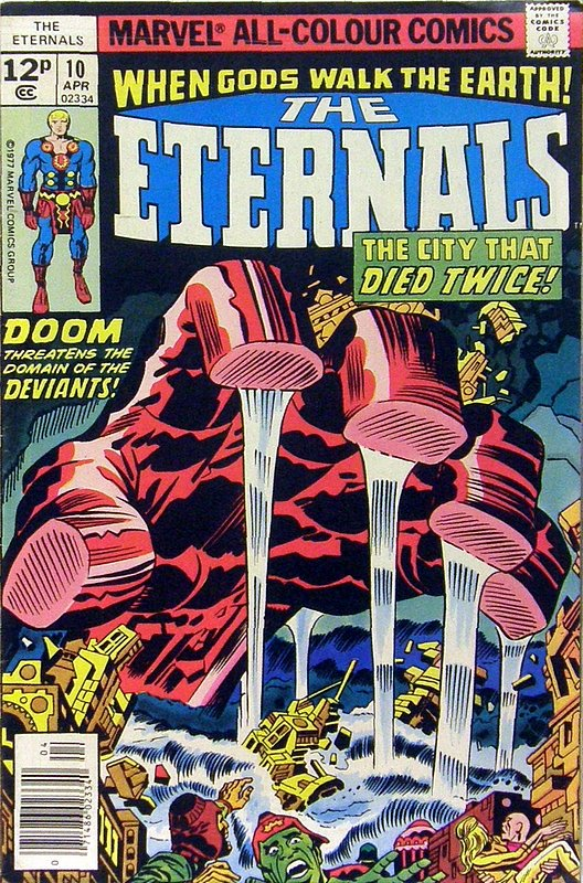 Cover of Eternals (Vol 1) #10. One of 250,000 Vintage American Comics on sale from Krypton!