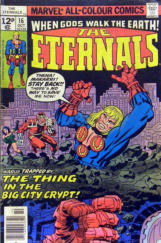 Cover of Eternals (Vol 1) #16. One of 250,000 Vintage American Comics on sale from Krypton!