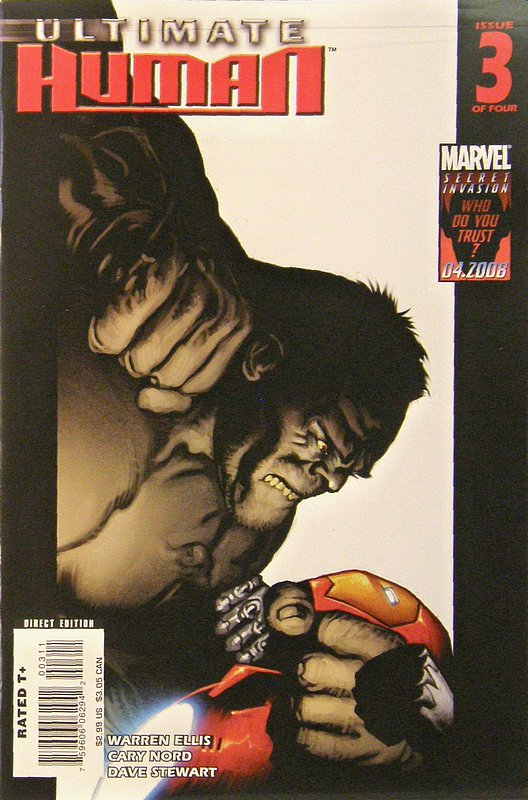 Cover of Ultimate Human (2008 Ltd) #3. One of 250,000 Vintage American Comics on sale from Krypton!