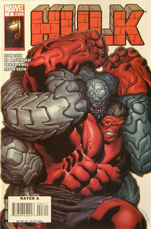 Cover of Hulk (Red) #3. One of 250,000 Vintage American Comics on sale from Krypton!