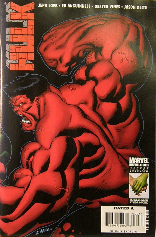 Cover of Hulk (Red) #6. One of 250,000 Vintage American Comics on sale from Krypton!
