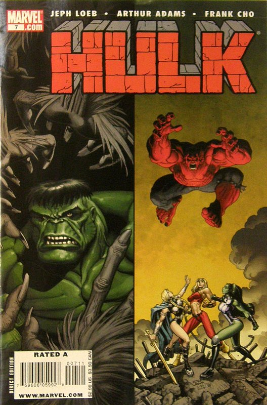 Cover of Hulk (Red) #7. One of 250,000 Vintage American Comics on sale from Krypton!