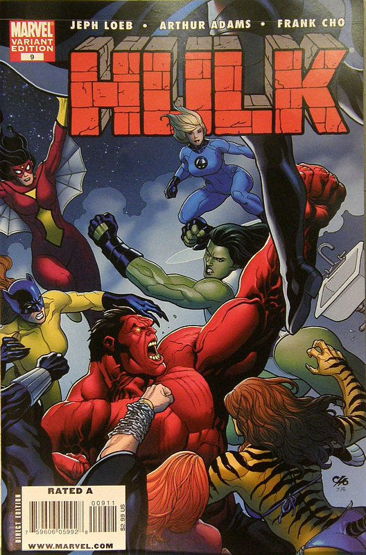 Cover of Hulk (Red) #9. One of 250,000 Vintage American Comics on sale from Krypton!
