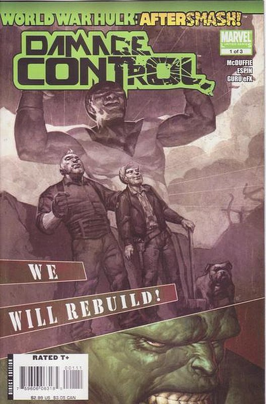 Cover of World War Hulk: Aftersmash - Damage Control #1. One of 250,000 Vintage American Comics on sale from Krypton!