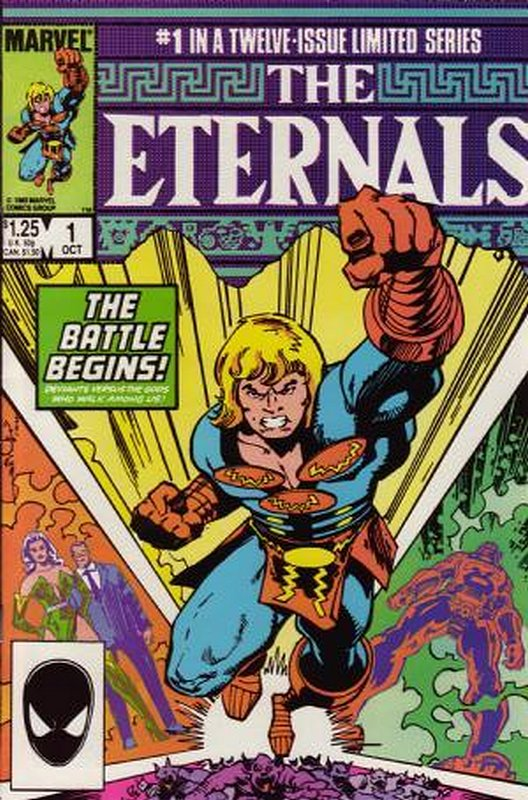 Cover of Eternals (1985-86 Ltd) #1. One of 250,000 Vintage American Comics on sale from Krypton!