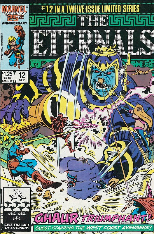 Cover of Eternals (1985-86 Ltd) #12. One of 250,000 Vintage American Comics on sale from Krypton!