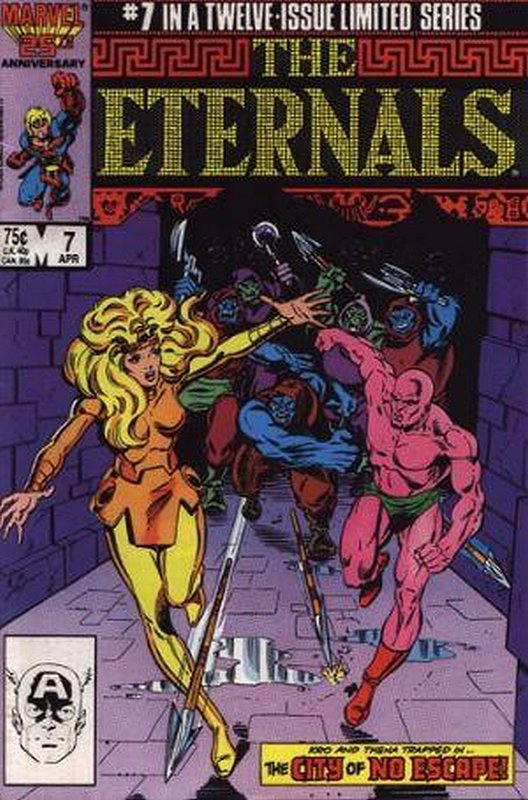 Cover of Eternals (1985-86 Ltd) #7. One of 250,000 Vintage American Comics on sale from Krypton!