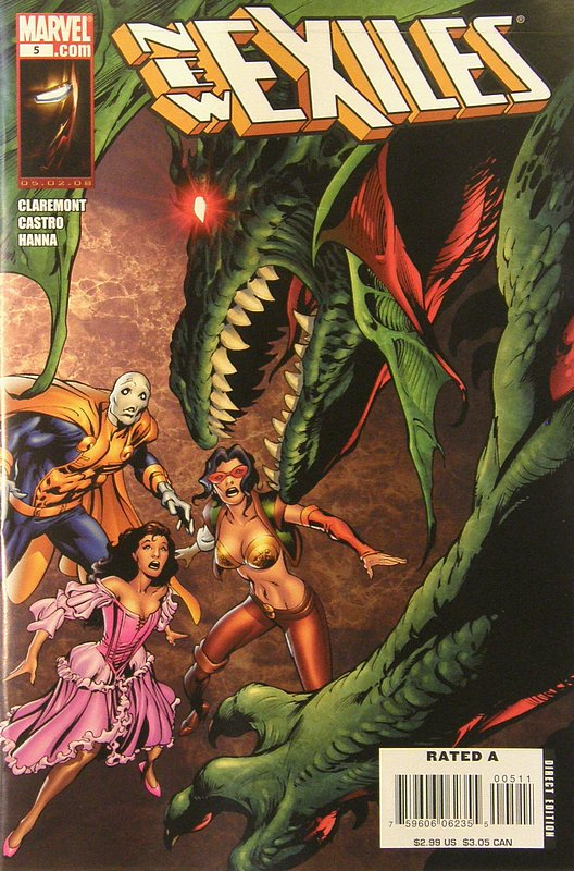 Cover of New Exiles (Vol 1) #5. One of 250,000 Vintage American Comics on sale from Krypton!
