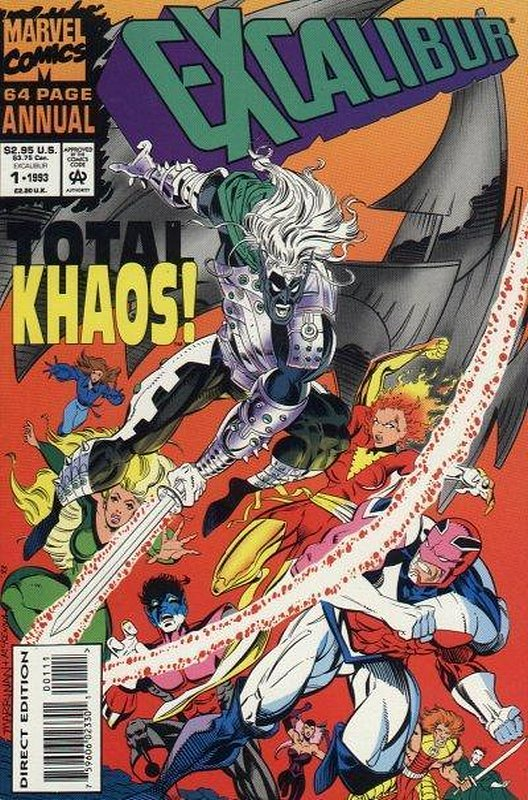 Cover of Excalibur Annual #1. One of 250,000 Vintage American Comics on sale from Krypton!