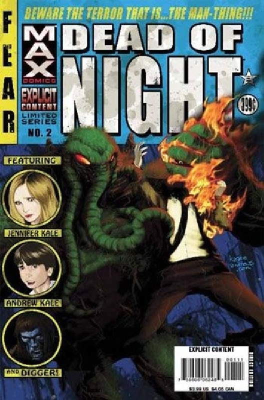 Cover of Dead of Night: Man-Thing (2008 Ltd) #2. One of 250,000 Vintage American Comics on sale from Krypton!