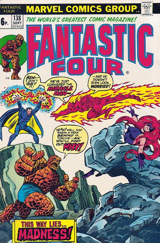 Cover of Fantastic Four (Vol 1) #138. One of 250,000 Vintage American Comics on sale from Krypton!