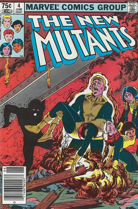 Cover of New Mutants (Vol 1) #4. One of 250,000 Vintage American Comics on sale from Krypton!
