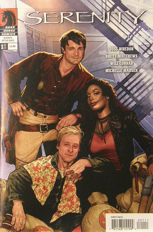 Cover of Serenity: Better Days #1. One of 250,000 Vintage American Comics on sale from Krypton!