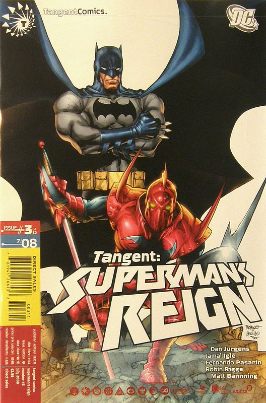 Cover of Tangent: Supermans Reign (2008 Ltd) #3. One of 250,000 Vintage American Comics on sale from Krypton!