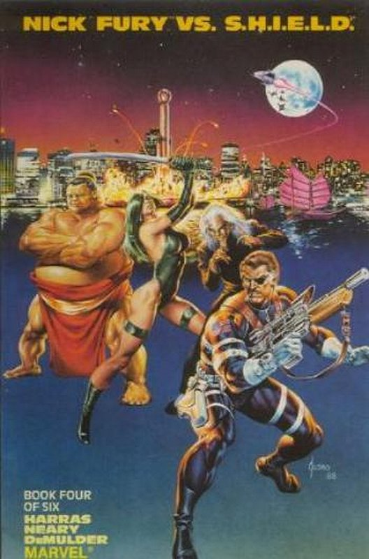 Cover of Nick Fury vs SHIELD (1988 Ltd) #4. One of 250,000 Vintage American Comics on sale from Krypton!