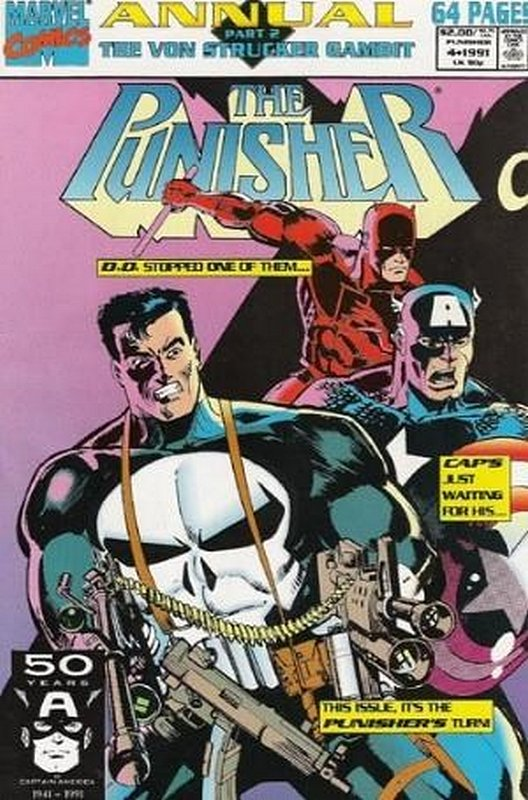 Cover of Punisher Annual #4. One of 250,000 Vintage American Comics on sale from Krypton!