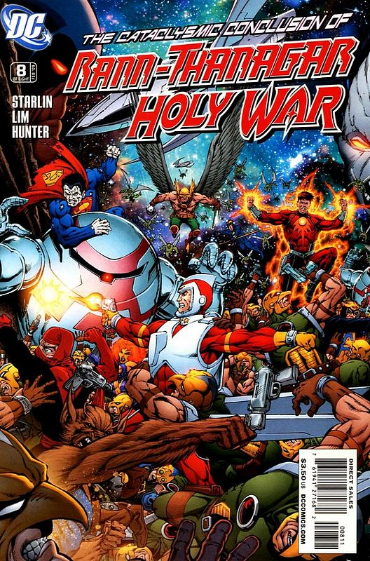Cover of Rann Thanagar: Holy War (2008 Ltd) #8. One of 250,000 Vintage American Comics on sale from Krypton!