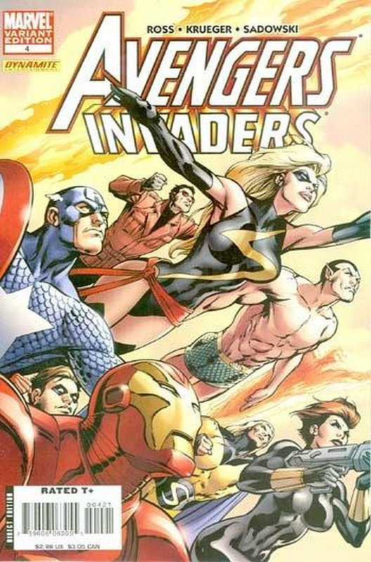 Cover of Avengers/Invaders (2008 Ltd) #4. One of 250,000 Vintage American Comics on sale from Krypton!