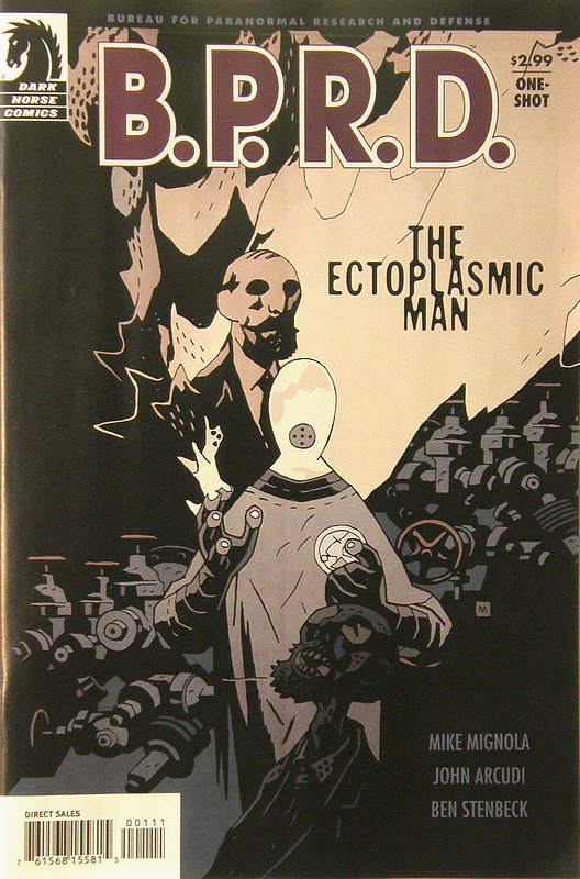 Cover of BPRD: Ectoplasmic Man (2008 One Shot) #1. One of 250,000 Vintage American Comics on sale from Krypton!