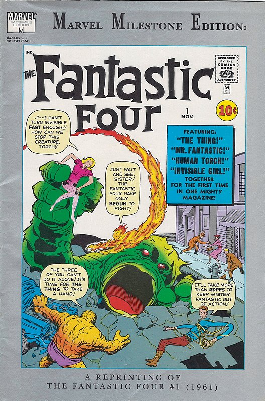 Cover of Fantastic Four 1: Marvel Milestone Edition #1. One of 250,000 Vintage American Comics on sale from Krypton!