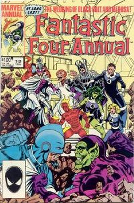 Cover of Fantastic Four Annual #18. One of 250,000 Vintage American Comics on sale from Krypton!