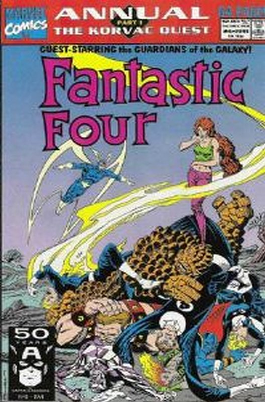 Cover of Fantastic Four Annual #24. One of 250,000 Vintage American Comics on sale from Krypton!