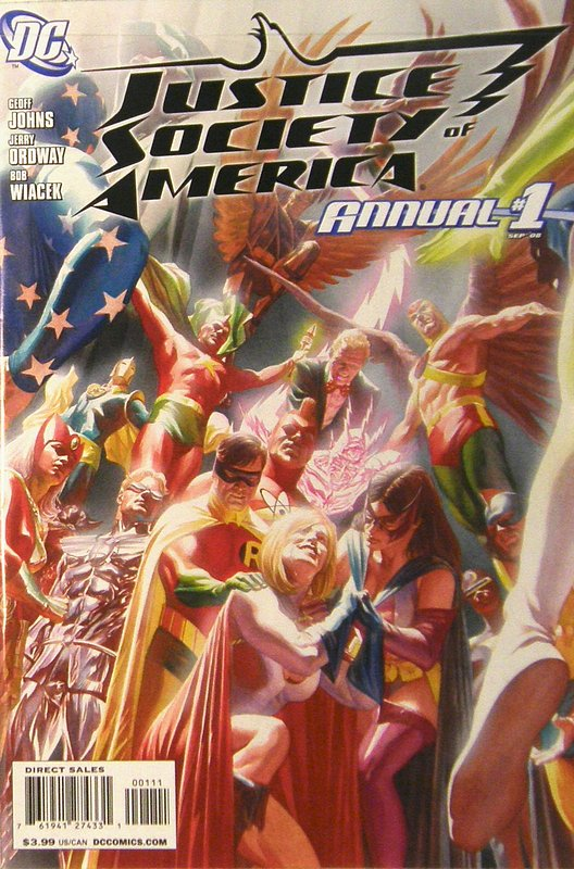 Cover of Justice Society of America Annual (2008) #1. One of 250,000 Vintage American Comics on sale from Krypton!