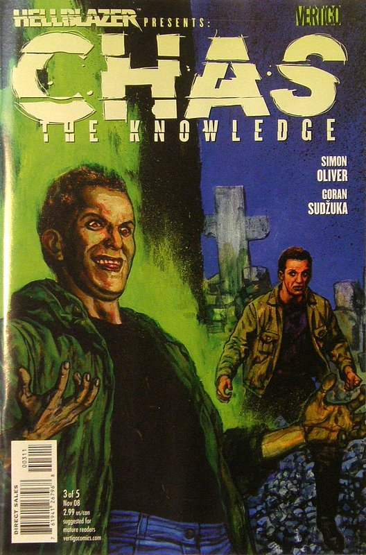 Cover of Hellblazer presents: Chas- The Knowledge #3. One of 250,000 Vintage American Comics on sale from Krypton!