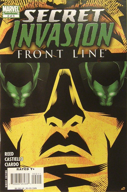 Cover of Secret Invasion: Frontline (2008 ltd) #2. One of 250,000 Vintage American Comics on sale from Krypton!
