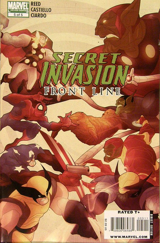 Cover of Secret Invasion: Frontline (2008 ltd) #5. One of 250,000 Vintage American Comics on sale from Krypton!