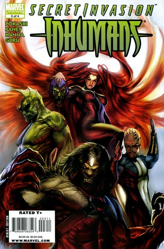 Cover of Secret Invasion: Inhumans (2008 Ltd) #3. One of 250,000 Vintage American Comics on sale from Krypton!