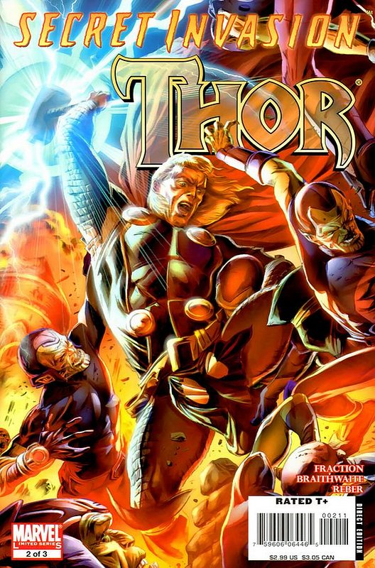 Cover of Secret Invasion: Thor (2008 Ltd) #2. One of 250,000 Vintage American Comics on sale from Krypton!