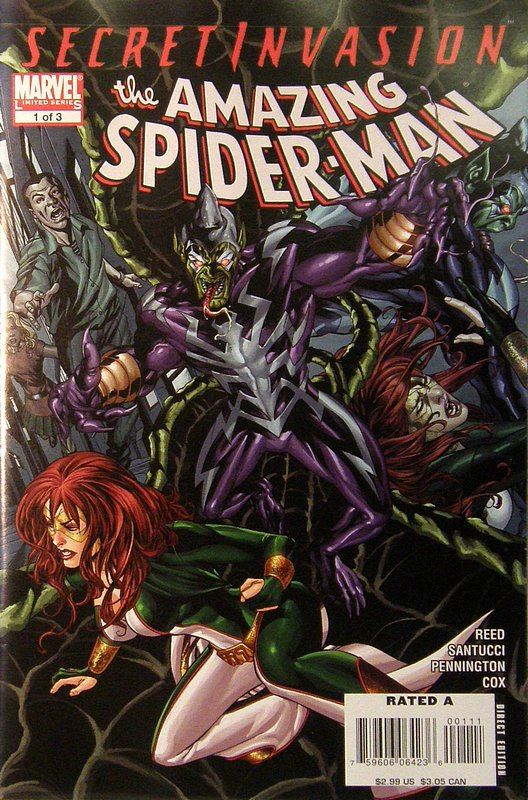 Cover of Secret Invasion: Amazing Spider-Man (2008 ltd) #1. One of 250,000 Vintage American Comics on sale from Krypton!