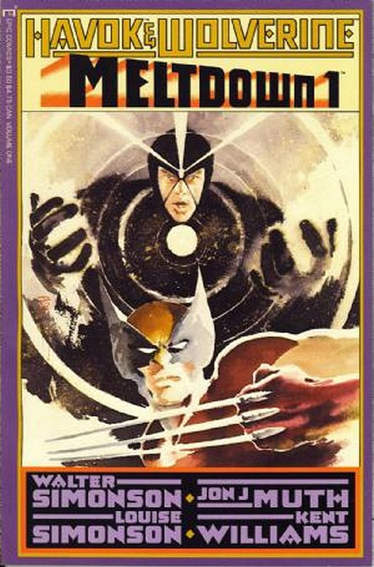 Cover of Havok & Wolverine: Meltdown (1988 Ltd) #1. One of 250,000 Vintage American Comics on sale from Krypton!