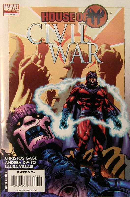 Cover of Civil War: House of M (2008 Ltd) #1. One of 250,000 Vintage American Comics on sale from Krypton!