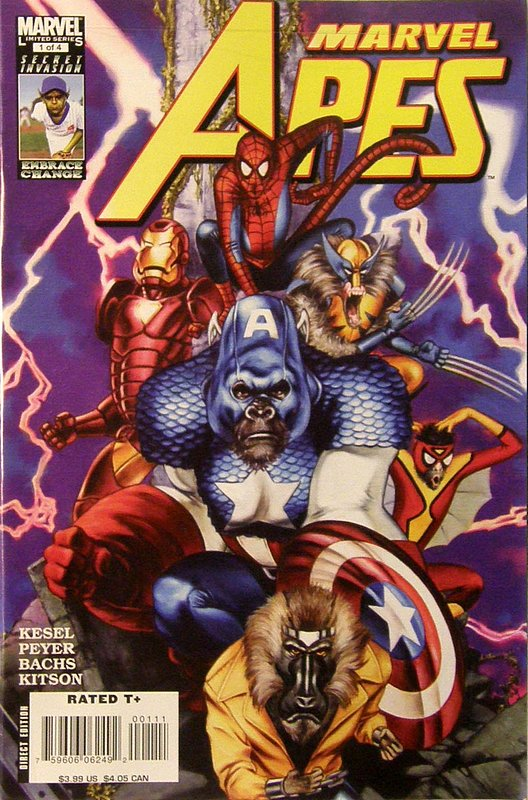 Cover of Marvel Apes (2008 Ltd) #1. One of 250,000 Vintage American Comics on sale from Krypton!
