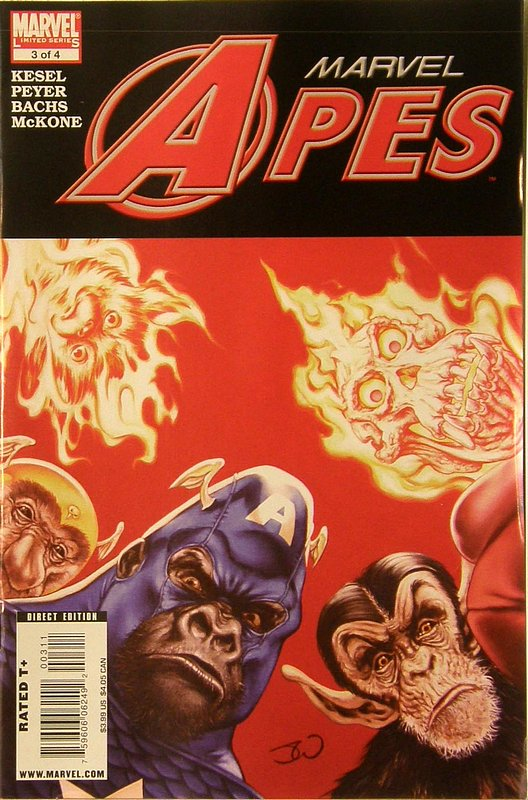 Cover of Marvel Apes (2008 Ltd) #3. One of 250,000 Vintage American Comics on sale from Krypton!