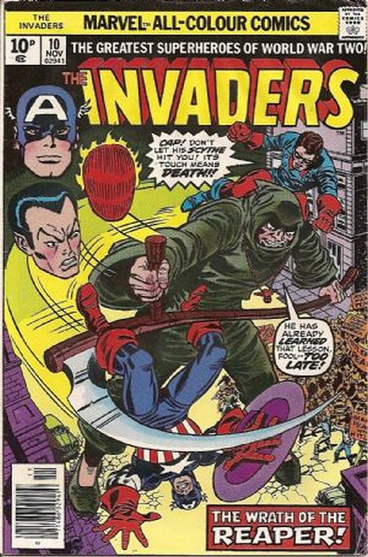 Cover of Invaders (Vol 1) #10. One of 250,000 Vintage American Comics on sale from Krypton!