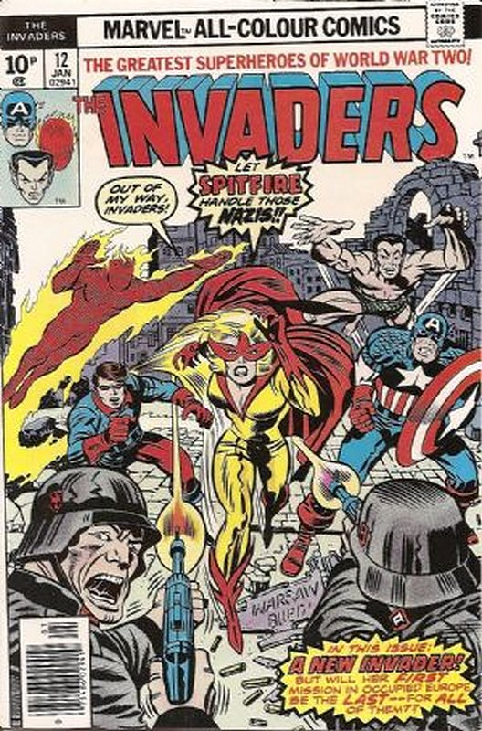 Cover of Invaders (Vol 1) #12. One of 250,000 Vintage American Comics on sale from Krypton!