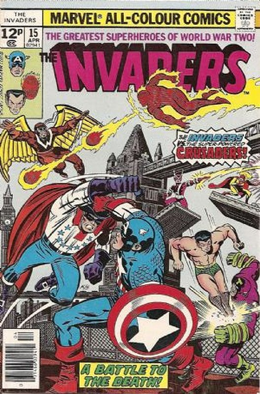 Cover of Invaders (Vol 1) #15. One of 250,000 Vintage American Comics on sale from Krypton!