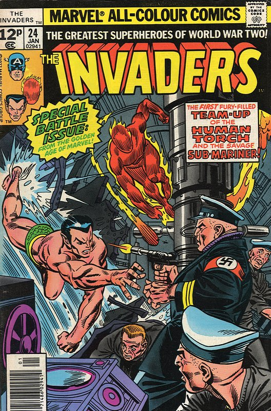 Cover of Invaders (Vol 1) #24. One of 250,000 Vintage American Comics on sale from Krypton!