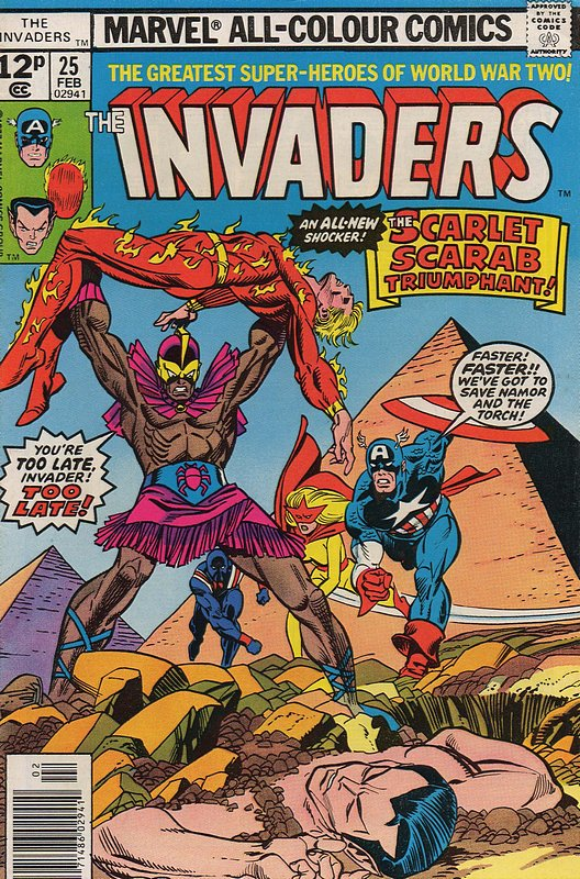Cover of Invaders (Vol 1) #25. One of 250,000 Vintage American Comics on sale from Krypton!