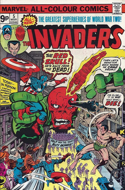 Cover of Invaders (Vol 1) #5. One of 250,000 Vintage American Comics on sale from Krypton!