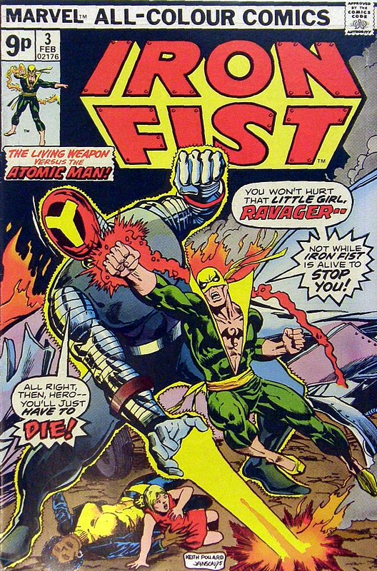 Cover of Iron Fist (Vol 1) #3. One of 250,000 Vintage American Comics on sale from Krypton!