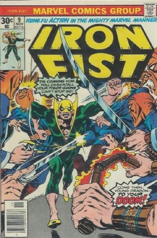 Cover of Iron Fist (Vol 1) #9. One of 250,000 Vintage American Comics on sale from Krypton!