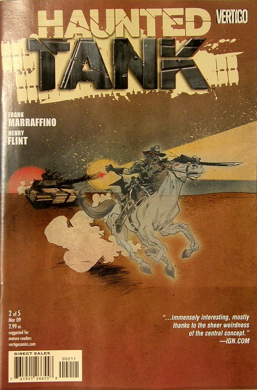 Cover of Haunted Tank (Vol 1) #2. One of 250,000 Vintage American Comics on sale from Krypton!
