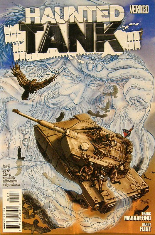 Cover of Haunted Tank (Vol 1) #3. One of 250,000 Vintage American Comics on sale from Krypton!